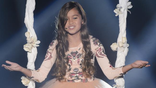 Top six ... Alexa is a finalist on The Voice Kids on Sunday night. Picture: Channel Nine