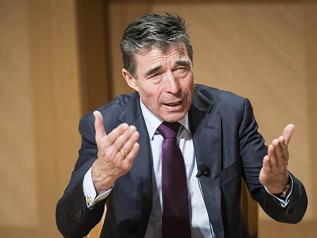Wake-up call...NATO Secretary-General Anders Fogh Rasmussen slammed Russia's intervention in Ukraine as the greatest threat to Europe since the end of the Cold War. Picture: AFP