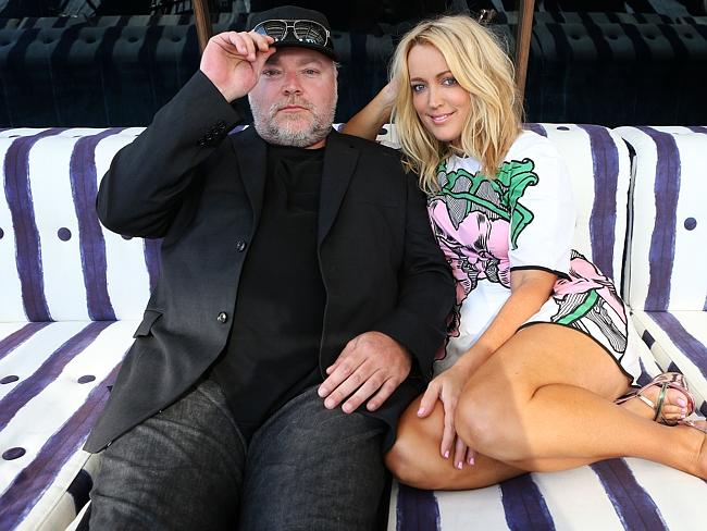 Kyle Sandilands and Jackie O were surprised by Morrow's jokes. Photo: James Croucher