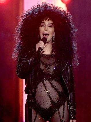 Cher performing at the Billboards today. Picture: Getty