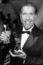 "Winner of the Gold Logie Award 1991. Steve Vizard for ""Tonight Live with Steve Vizard"" and ""Fast Forward"", Seven Network."