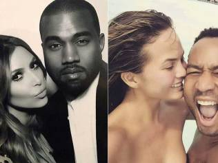 Kim Kardashian and Kanye West, as well as Chrissy Teigen and John Legend, reportedly used IVF to conceive. Photos: Instagram