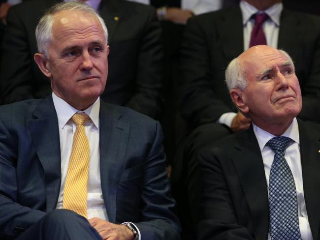 Turnbull has found a supporter in former prime minister John Howard, who urged the public to give him a chance. Picture: Gary Ramage.