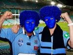 Wayne Gale and Luke Gale travelled from Gilgandra for Game 2 of State Of Origin at ANZ Stadium in Sydney. Picture: Adam Taylor