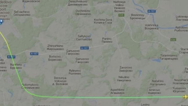 The tragic flight path of the doomed plane before it disappeared from view.