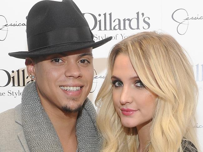 Wedded bliss ... Ashlee Simpson wed Diana Ross's son Evan Ross on August 30 in Connecticut. Picture: Getty Images for Jessica Simpson Collection