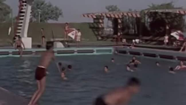 Baghdad can reach up to 50 degrees in summer, and the famed Tigris River is very muddy. So you can imagine how popular this pool was.