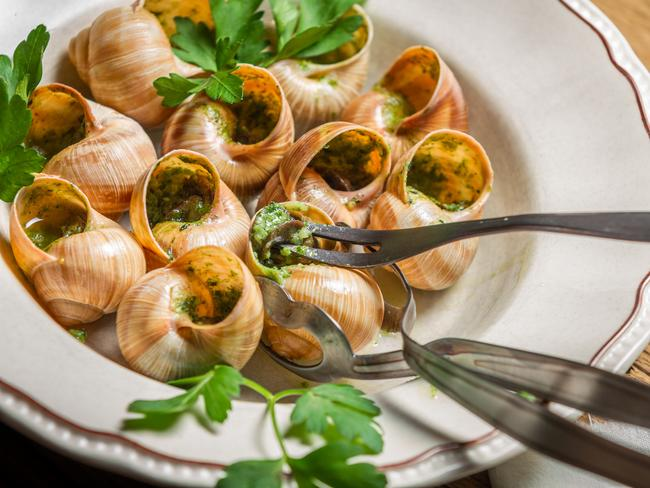 Mmm, snails. Picture: Wotif