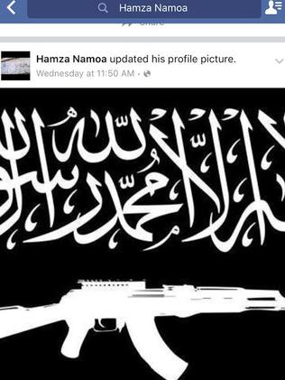 Esau 'Hamza' Namoa, brother of terror-accused Alo-Bridget Namoa, has recently converted to Islam and has taken to social media to support ISIS.