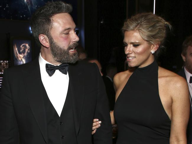 Ben Affleck and girlfriend Lindsay Shookus, who is a producer on SNL. Picture: Splash