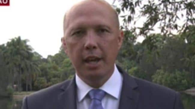 Peter Dutton has been mocked for his comments on 'African gangs'. Picture: Sky News