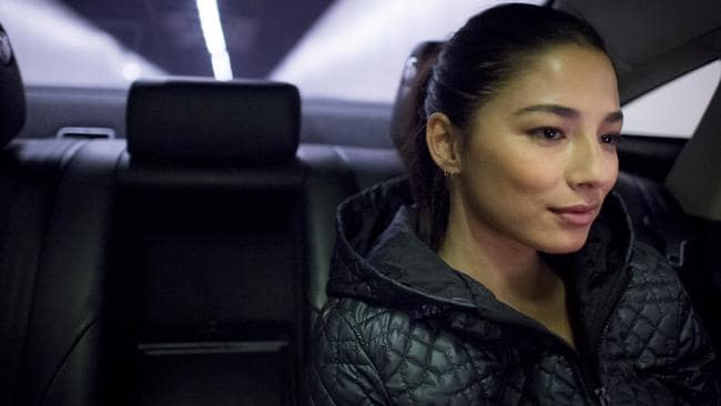 Jessica Gomes travels with a personal driver in a Jaguar. Picture: Jason Edwards.