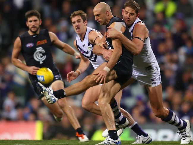 Chris Judd played one of his best games for the season.
