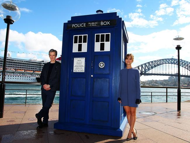 Down Under ... Peter Capaldi, with his on-screen companion Jenna Coleman, says Australia has fabulous sites that could fit into an episode of Dr Who.