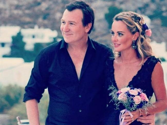 Mark McInnes and Lisa Kelly on their big day in Mykonos. Picture: Instagram