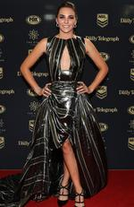 Teigan Power uring the 2017 Dally M Awards at The Star, Sydney. Picture: Brett Costello