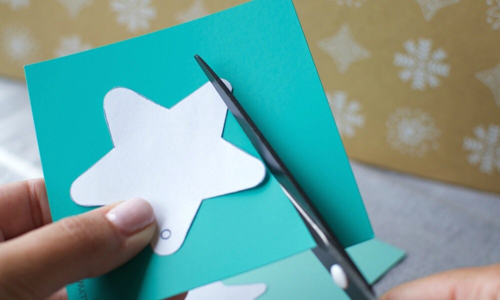 DIY Paper Star Christmas Decoration
