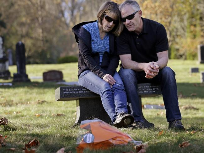 Regrets ... Linda and Rob Robertson want to stop other parents going through what they did. Picture: AP