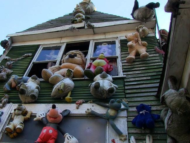 Nothing says 'story of hope' like a house inhabited by puppets. Picture: Unplanned America