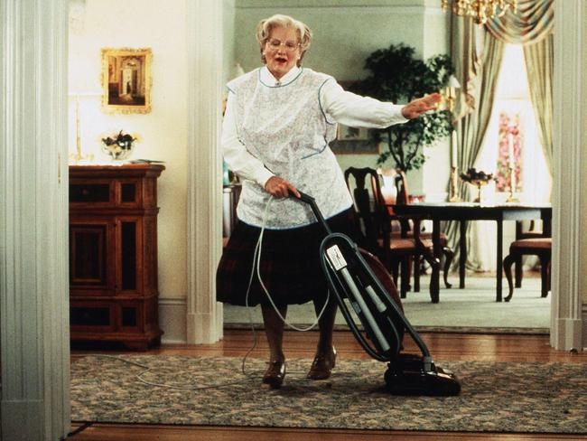 Robin Williams in a memorable scene from 1993 film Mrs Doubtfire.