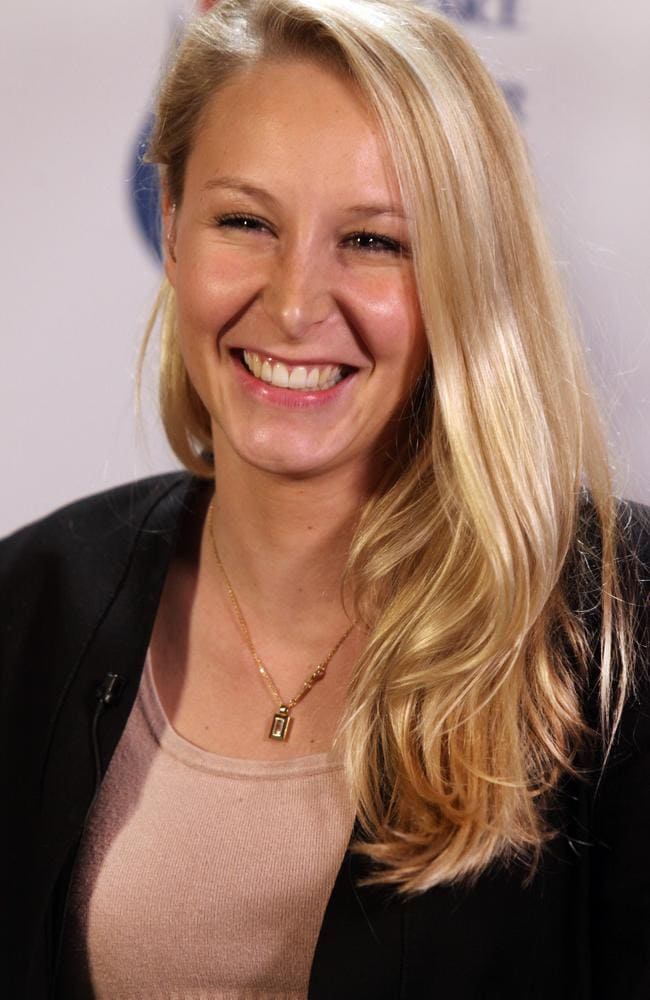 Marion Marechal-Le Pen is vice-president of the party and has had a remarkable rise in politics. Picture: Patrick Aventurier/Getty Images.