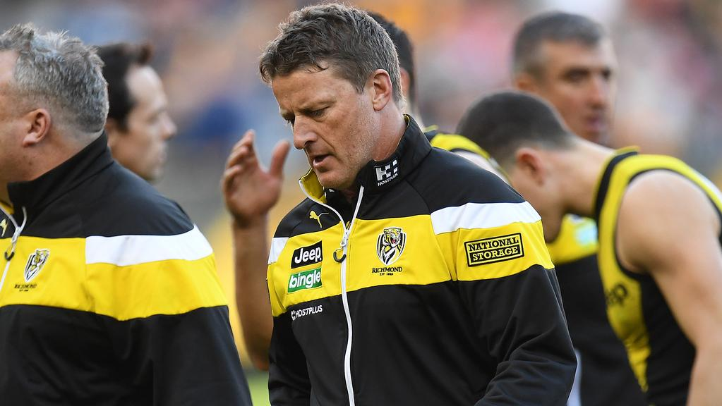 Richmond coach Damien Hardwick. (AAP Image/Julian Smith)