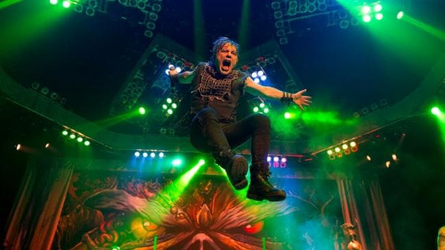 In the air: Bruce Dickinson is preparing for another gravity-defying Iron Maiden world tour.