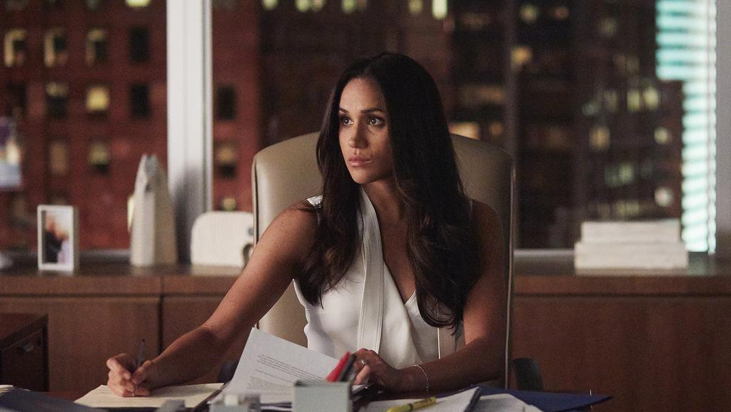 Meghan Markle stars in Suits as Rachel Zane. Picture: Shane Mahood/USA Network/NBCU Photo Bank via Getty Images