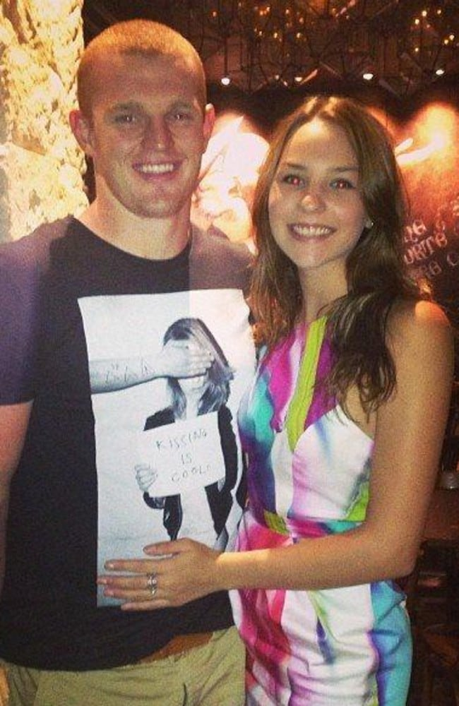 Alex McKinnon will attend game two with his fiance Teigan Power.