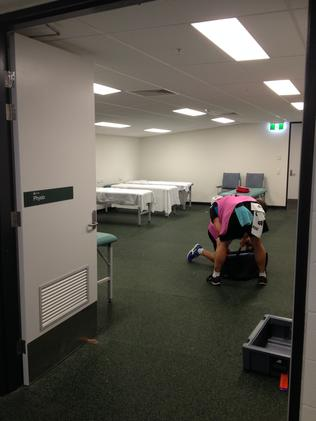 The physio room.