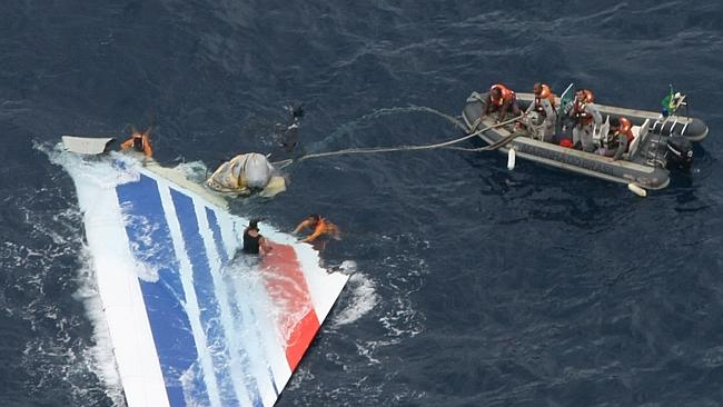 Discovery: The first debris from Air France Flight 447 was found in the Atlantic five days after it was lost. Picture: AP