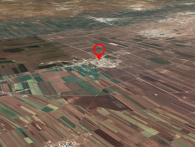 The fields surrounding Dabiq, looking towards the hills in the west. This is supposed to be the site of the start of the final clash between Islam and Christianity.