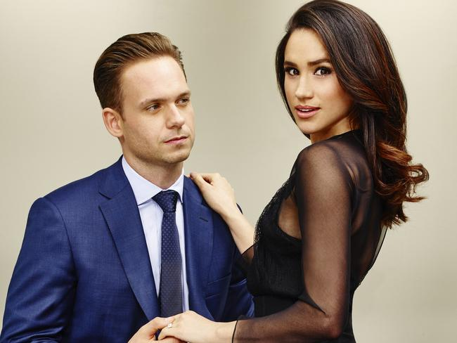 Meghan Markle is a successful actress who appears in Suits alongsidePatrick J Adams. Picture: NBC