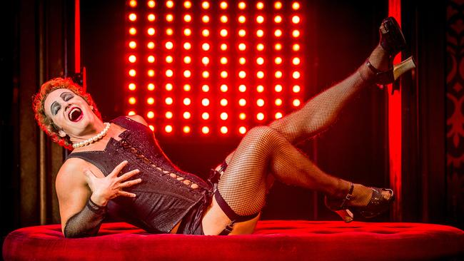Risqué ... Craig McLachlan as Frank N Furter in The Rocky Horror Show. Picture: Jason Edwards.