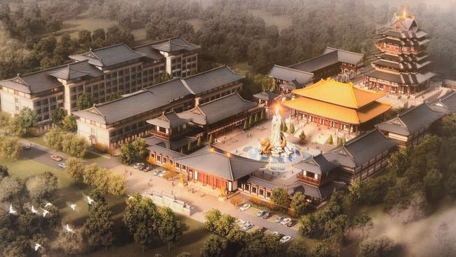 An artist's impression of stage one of the Chinese theme park planned for the NSW Central Coast.
