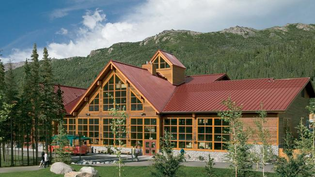 The Denali Princess Wilderness Lodge on the edge of the Denali National Park. Picture: Supplied