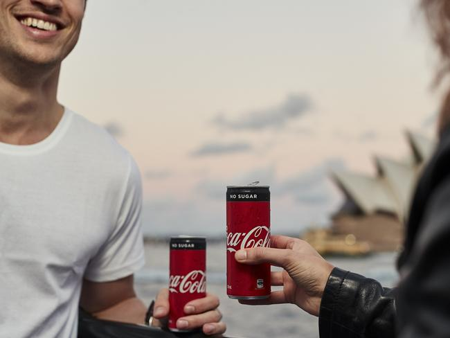 You too can be this happy and skinny drinking your sugar-free Coke.