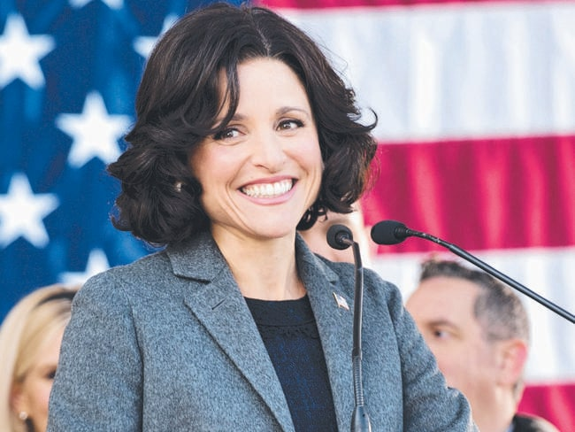 Great to see her back ... Julia Louis-Dreyfus as US Vice-President Selina Meyer in a scene from Veep. Picture: AP