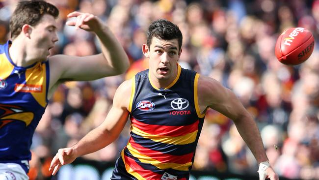 Adelaide's Taylor Walker returned to form against West Coast. Picture: Sarah Reed