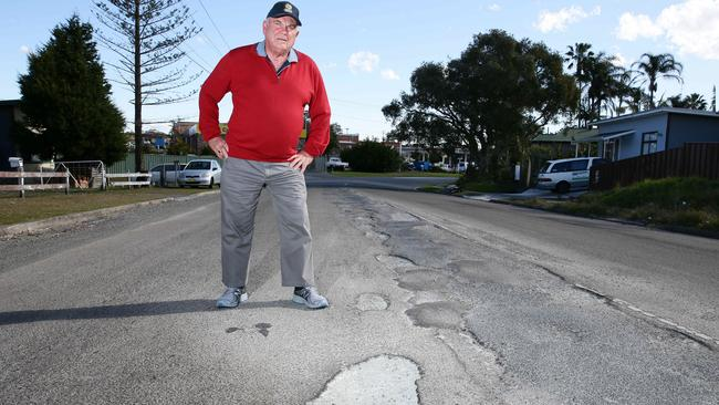 Wyong councillor Bob Graham says council should sell the site to someone else and use the money to fix the shire's roads. Picture: Peter Clark