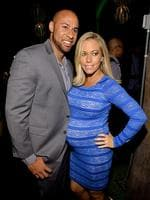 Hank Baskett and Girls Next Door star Kendra Wilkinson. The couple are expecting the birth of their second child in May. Picture: Getty