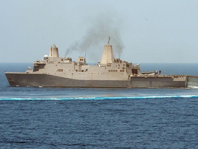 USS Mesa Verde will join other US naval ships in the Persian Gulf. AFP PHOTO