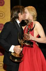 Keith Urban and Nicole Kidman kiss at the HBO's Post Emmy Awards Reception. Picture: Matt Winkelmeyer/Getty Images