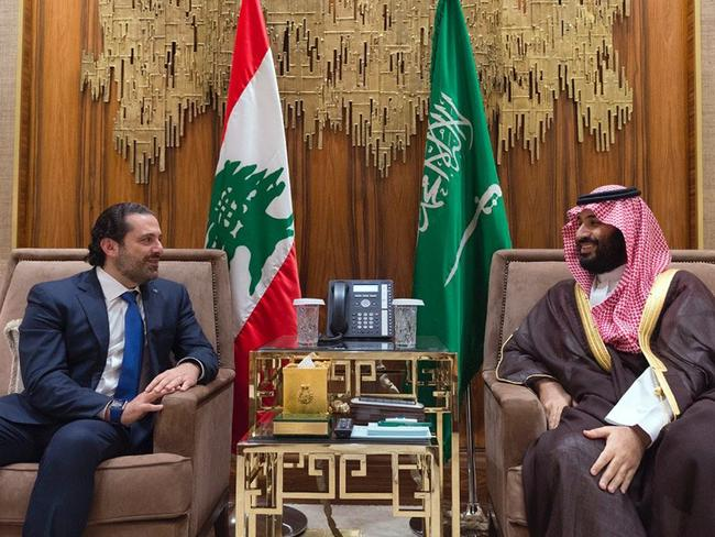 Lebanese Prime Minister Saad Hariri (left) met with Saudi Crown Prince Mohammed bin Salman earlier this year. Picture: Dalati Nohra via AP