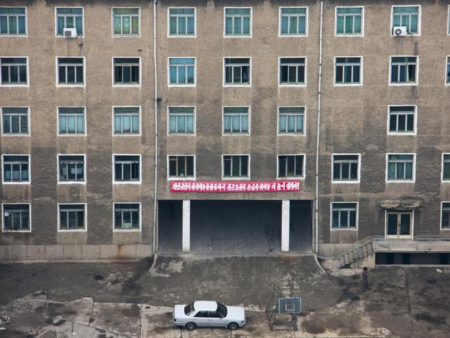 'Pyongyang is supposed to be the showcase of North Korea, so building exteriors are carefully maintained. When you get a rare chance to look inside, the bleak truth becomes apparent.'
