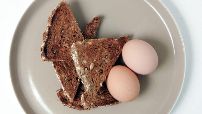Don't be afraid to have some wholegrain toast with your eggs.