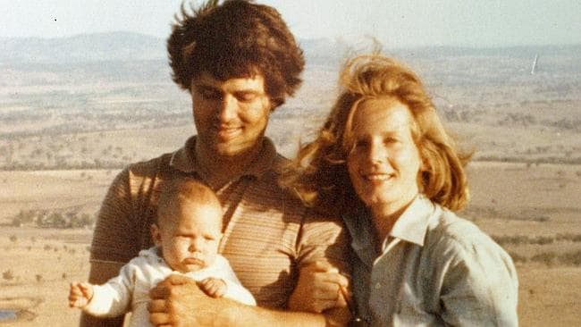 Malcolm Turnbull and wife Lucy with son Alex when he was a few months old in the Hunter Valley, 1982.