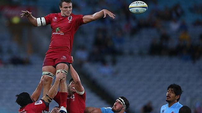 The Waratahs' lineout struggled against the Reds.
