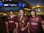 Kris , Steven and Charlie Woodham, deep in enemy territory. Picture: Bradley Hunter