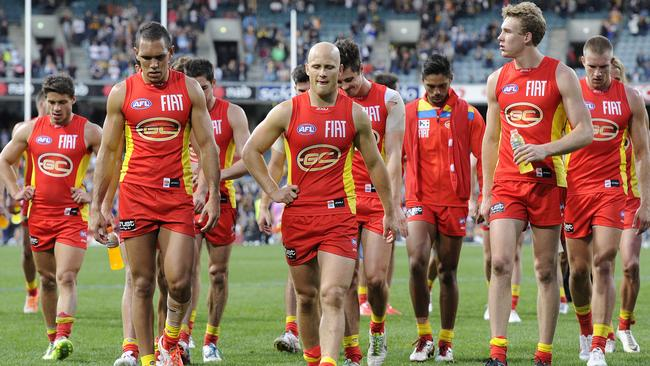 Gold Coast is yet to win a game without Gary Ablett. Picture: Daniel Wilkins